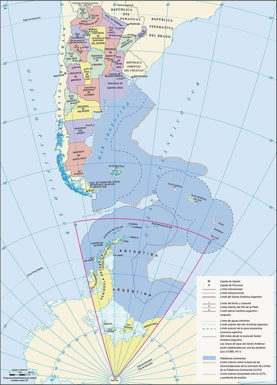 Argentina mapa politico