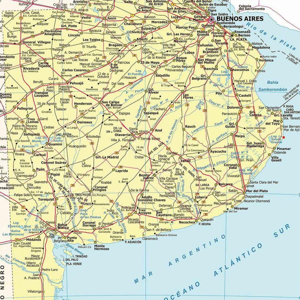 Mapa Provincia de Buenos Aires