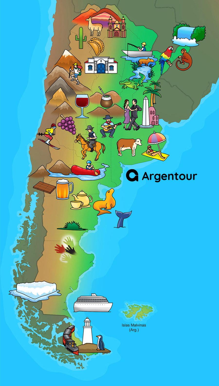 mapa turistico argentina